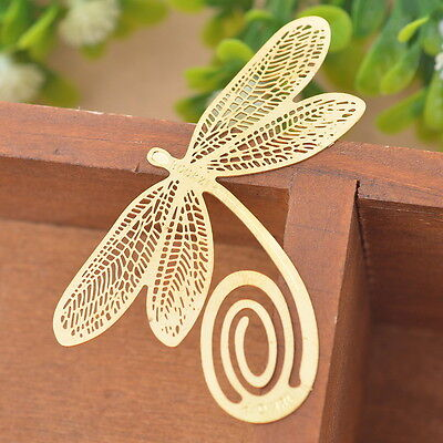 New Bookmarks Dragonfly Chic Reading Gift Office Supplies Exquisite Art Craft