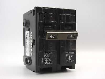 Siemens Q240 40 Amp Dual Pole Circuit Breaker (Pack of 3) Free Shipping