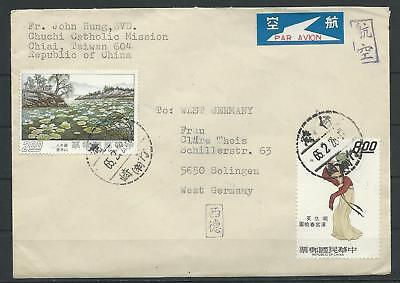 China Taiwan Luftpost-Brief Chiai - Solingen (56033