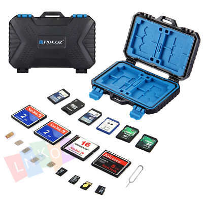 Waterproof 28 Slots Micro SD Card Holder Carrying Case Protector For CF TF SDHC