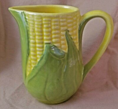 "Charming Vintage Shawnee Pottery Yellow ""King Corn"" 12 Oz Creamer #70, Very Good"