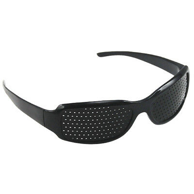 Black Eyesight Improvement Vision Care Exercise Eyewear Pinhole Glasses Training