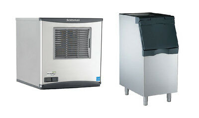 "Scotsman 643lb Prodigy Plus Nugget Ice Maker & 370lb 22"" Bin Air Cool"