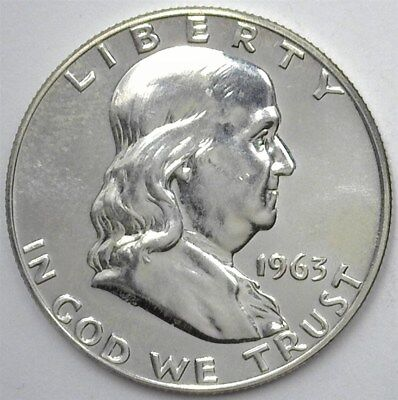 1963 Franklin Silver 50 Cents  Exceptional Proof