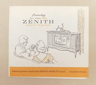 Vintage 1961 ZENITH Quality Television Brochure with Space Commander Remote