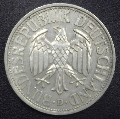 Germany 1951-D 2 Mark  Choice Almost Uncirculated  Km#111