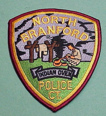 North Branford  Connecticut  Ct  Indian Oven  Police Patch  Free Shipping!!!
