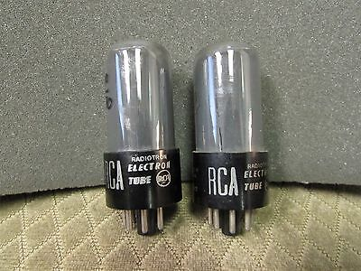 Curve Tracer Matched Pair Of Rca 6V6Gt Vacuum Tubes (Bjr2001)