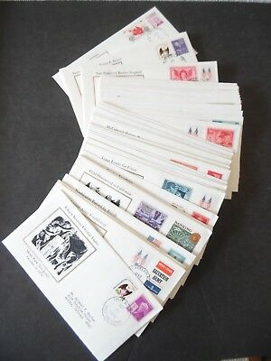 Lot of 55 History of the US Cancel Stamp & Cachet Covers 1977-78