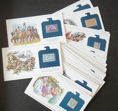 Lot of 37 History of the US Illustrated Panel & Mint Commemorative Stamp