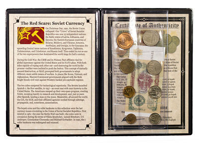 1945-1991 USSR Coins & Banknotes - The Red Scare Portfolio with COA SKU47191