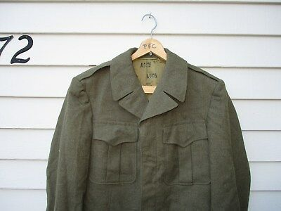 WWII US Army Ike Jacket OD Wool Rare Officer Label 1945 Tag Air Corps WW2