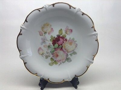 "Vintage Schumann  Bavaria Antique Rose Golden Crown 11.1/2"" Plate"