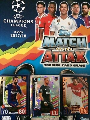 Match Attax 17/18 Champions League - Limited Edition/100 Club/Hat-Trick Hero`s
