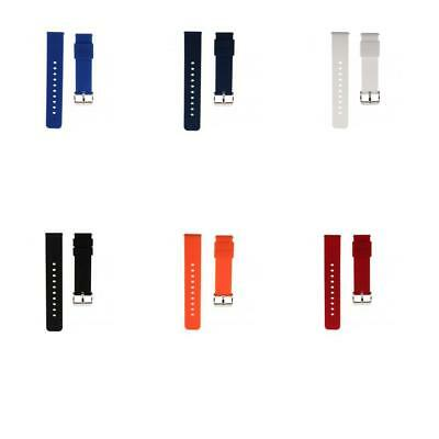 20mm Soft Silicone Rubber Watch Strap Band with Quick Release Spring Bars