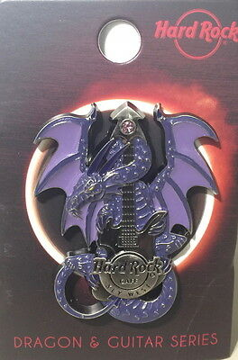 Hard Rock Cafe KEY WEST FL 2017 3-D DRAGON & GUITAR Series PIN New on Card 200!