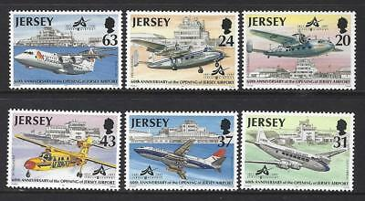 Jersey 1997 Aircraft - 60Th Anniversary Opening Of Jersey Airport Mounted Mint