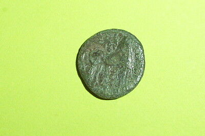 Ancient GREEK COIN of ZEUGITANA CARTHAGE 350 BC-250BC horse palm tree tanit good