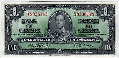BC-21a $1 1937 BANK OF CANADA OSBORNE/TOWERS CHOICE CRISP UNCIRCULATED