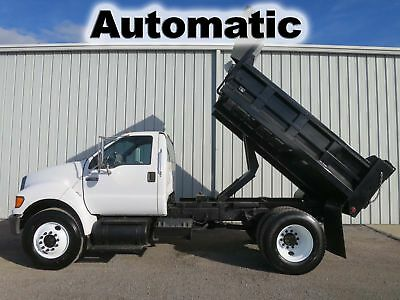 F-750 Cat Diesel Automatic 10-Ft Contractor Bed Body  Dump Truck 50-K Low Miles