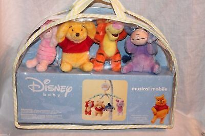Winnie The Pooh Baby Crib Musical Mobile