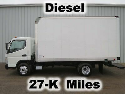 Fe125 Diesel Automatic 14Ft Box Cube Van Delivery Work Truck 27-K Low Miles