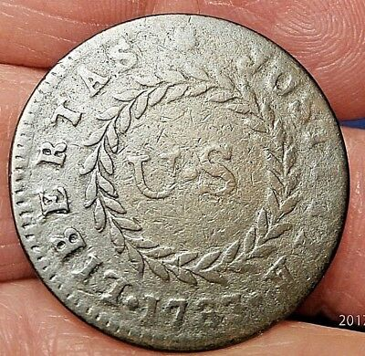 1783 Nova Constellatio Copper Large Us Pointed Rays Crosby 1-A Rarity 3 C887