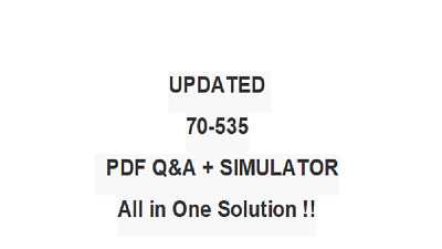 ARCHITECTING MICROSOFT AZURE SOLUTIONS (70-535)  EXAM QA PDF&Simulator