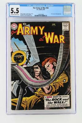 Our Army At War #83 - CGC 5.5 FN- DC 1959 - 1st App of Sgt. Rock - Joe Kubert!!!
