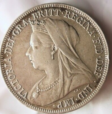 1894 GREAT BRITAIN SHILLING - AU - UNCOMMON Type Silver Coin - Lot #J12