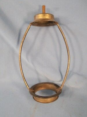 Vintage 7in Brass Plated Lamp Shade Support Harp wThreaded top for Finial