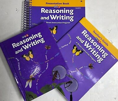 SRA Reasoning and Writing Level D Presentation Book Student Book Teacher Guide
