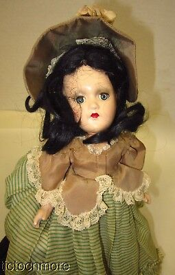 Vintage Madame Alexander Fiction Doll Scarlett Composition Gone With The Wind
