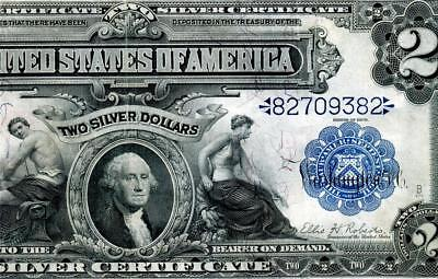 HGR FRIDAY 1899 $2 Silver Certificate ((RARER Lyons/Roberts)) AWESOME GRADE