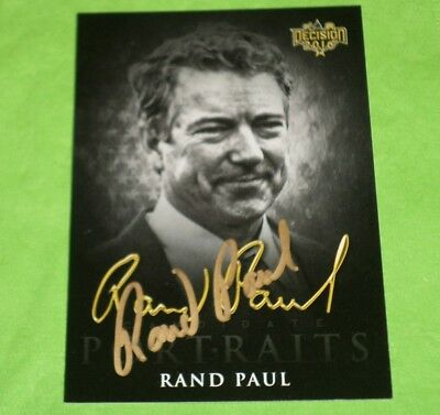 Rand Paul Signed Decision 2016 Political Trading Card - Autographed