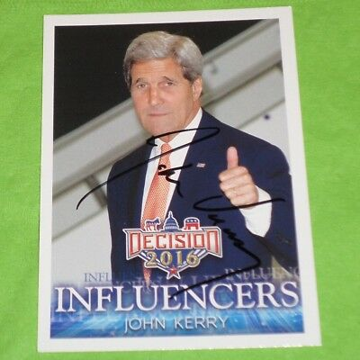 John Kerry Signed Decision 2016 Political Trading Card - Autographed