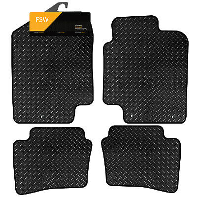 HYUNDAI i-20 2 CLIP 2008-2014 TAILORED 3MM RUBBER HEAVY DUTY CAR FLOOR MATS