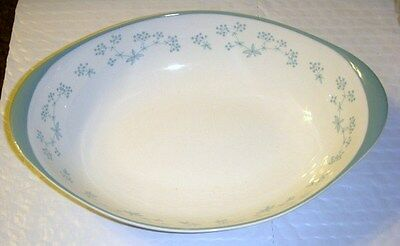 "Royal Doulton  Queenslace Oval Serving Bowl 10"" By 6 1/2"""