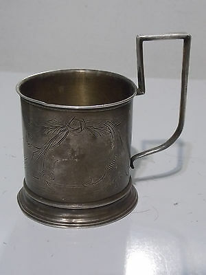ANTIQUE 111g Imperial Russian 84 Silver Cup Holder, Cupholder