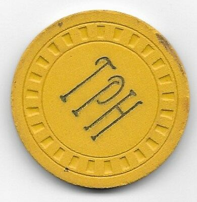 Talent Pool Hall Gold Vintage Card Room Illegal Casino Chip Talent Oregon 1947
