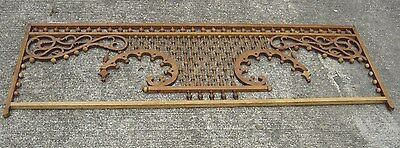 Antique Stick & Ball Oak Fretwork. Pierced corners with scroll design.8887