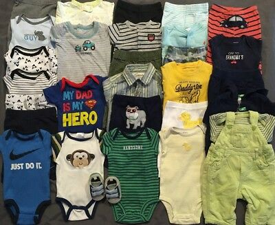 EUC Adorable Baby Boys CLOTHES LOT Outfit Sets 0-3 & 3 Months Lot # 2