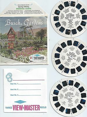 Busch Gardens View-master S6 Packet A 988 Tampa Florida VGC