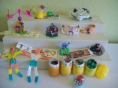 Ferrero Kinder Egg Surprise Toy Lot Germany People Ghost Beehive Palace Genies