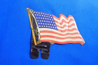 Vintage 48 Star American Flag License Plate Topper Accessory Jeep GM Mopar Truck