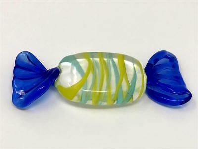 AUTHENTIC VINTAGE ITALIAN MURANO Hand Blown Large Art Glass Candy Piece/Wrapper