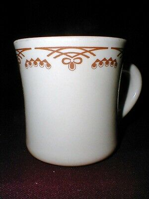 Shenango Restaurant Ware Inca Ware Brown Design Coffee Mug