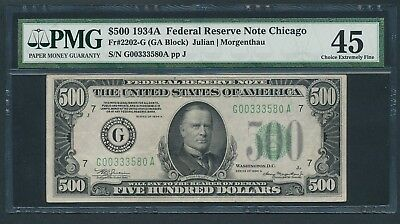 1934A $500 Five Hundred Dollar Bill Currency Cash Note Money PMG EF 45