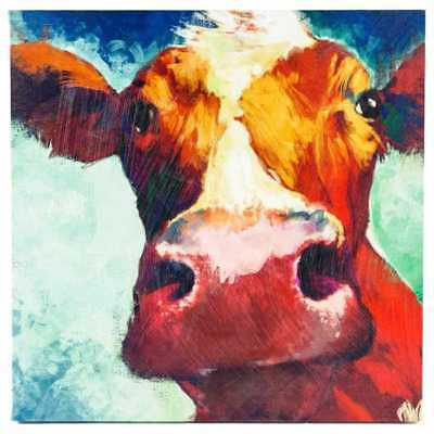 Large Cow Canvas Wall Art Hand Painted Large Piece Farmhouse Decor