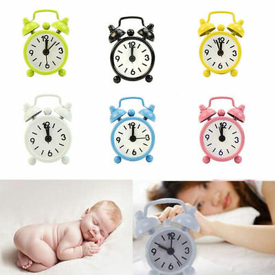 Home Outdoor Portable Cute Mini Cartoon Dial Number Round Desk Alarm Clock New
